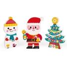 【法國Janod】磁性拼裝積木-快樂聖誕 J08033 /組