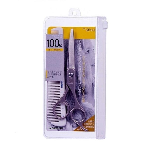 【日本製】【GREEN BELL】日本製 美髮剪刀套組 MB-104 SD-22055 -