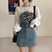 長袖上衣 衛衣女裝寬鬆韓版秋季2021新款設計感疊穿港風長袖上衣外套ins潮 韓國時尚週 免運