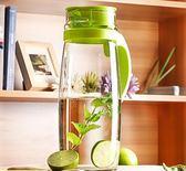 耐熱玻璃水壺大容量涼水壺冷水壺玻璃耐高溫茶壺涼水杯【週年慶免運八折】