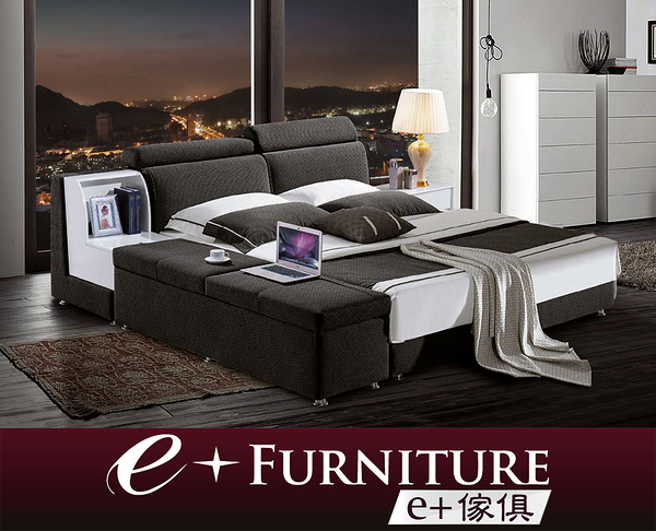 『 e+傢俱 』BB206 桀登 Jaden 多功能雙人床架 大型雙人床架 | 5x6.2尺 | 6x6.2尺 可訂製