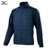 MIZUNO 男裝 外套 背心 兩穿 袖子可拆 防風 防潑水 前胸鋪棉 口袋拉鍊 深藍【運動世界】32TE059614
