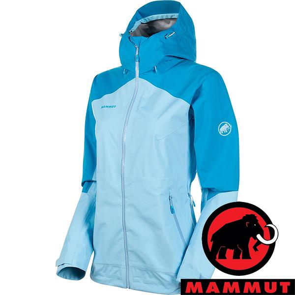 【MAMMUT 長毛象】Convey女GT單件式連帽外套『自在藍』1010-28800 登山 外套 羽絨 保暖 禦寒