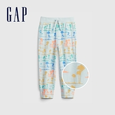 Gap男幼童 布萊納系列 口袋印花鬆緊休閒褲 442430-棕櫚印花