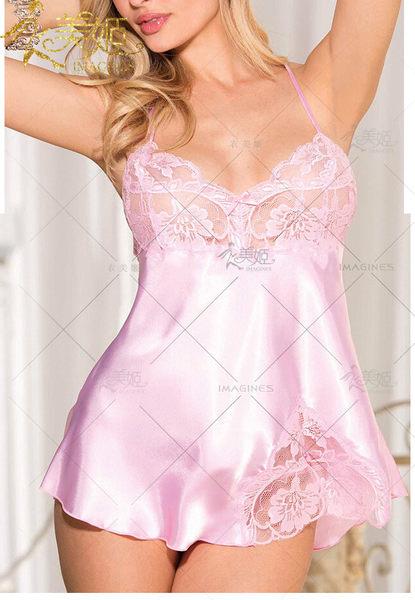 ♥♥衣美姬♥柔情綻放!浪漫柔緞睡衣 夜晚情趣服裝 蕾絲 細肩帶甜美吊帶睡衣
