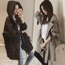 風衣 中長款女韓版學生2020年秋裝百搭新款春秋寬鬆連帽薄款bf風衣外套 小宅女