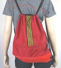 圖騰休閒後背包(紅/黑)