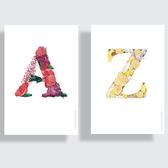一筆一筆旅行 A to Z Floral Alphabet post card(單張)