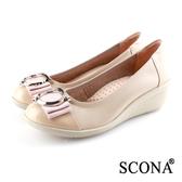 SCONA 蘇格南 全真皮 輕盈舒適OL厚底鞋 粉色 31051-2