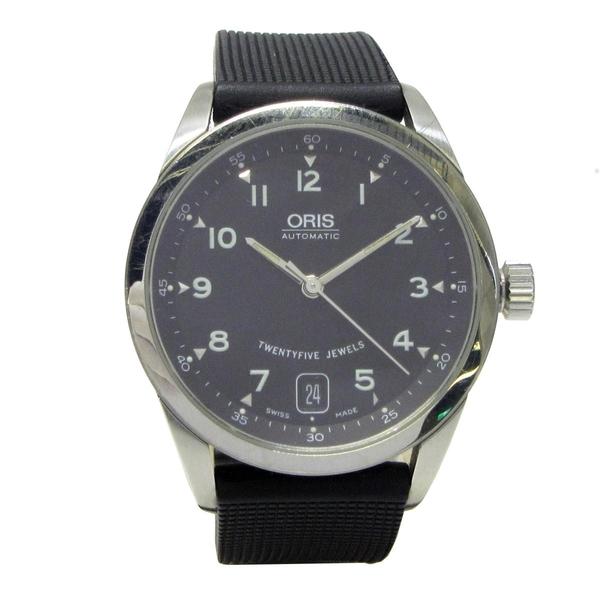 ORIS 黑色面盤不銹鋼自動上鍊機械錶 【 二手品牌BRAND OFF】