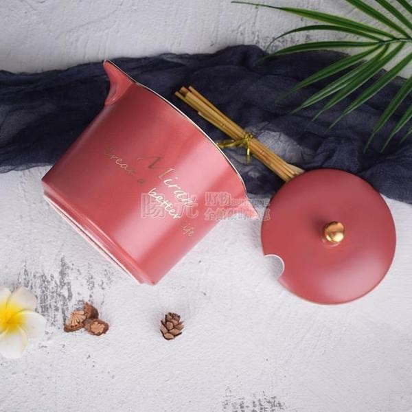 北歐風陶瓷調味罐調料罐鹽糖盒辣椒油大小容量豬油罐家用廚房套裝 陽光好物