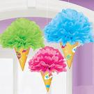 彩球吊飾3入-綜合冰淇淋