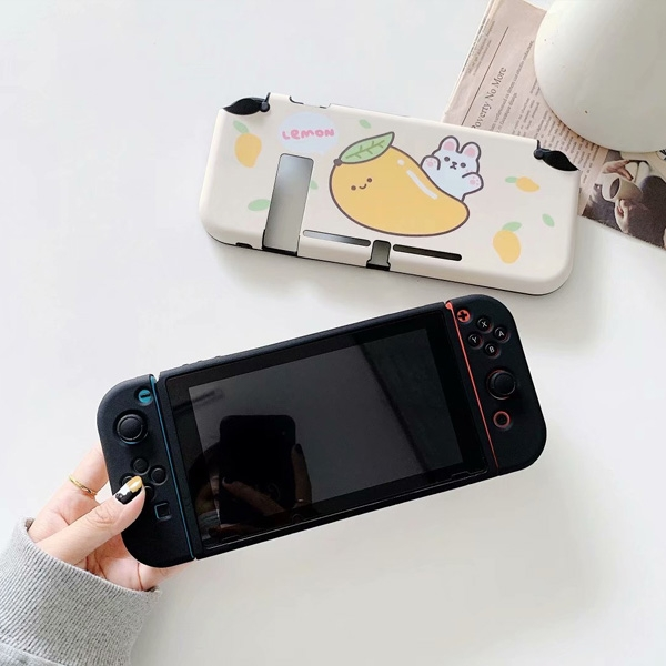 Switch保護殼 檸檬蘿蔔 Switch彩繪保護殼 Switch配件 Switch Lite 配件