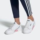 J-adidas CONTINENTAL 80 SHOES 粉白 深藍 LOGO 三葉草 休閒 運動 舒適 女款 新品 EF6010