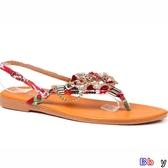 【貝貝】夾腳涼鞋 民族風 波西米亞 人字涼鞋 平底 防滑 夾趾 沙灘鞋