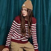 CACO-小標滾條毛衣-情侶款(兩色)-女【RNA038】