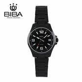 法國 BIBA 碧寶錶 經典系列 藍寶石玻璃 石英錶 B32BS102B 黑色 - 35mm