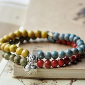 陶瓷手環-雙層彩色生日情人節禮物女串珠手鍊73gw118[時尚巴黎]