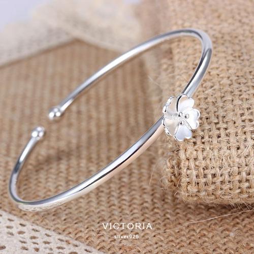 S925銀簡單時尚風格手鐲-維多利亞160538