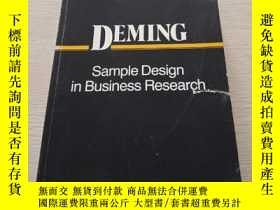 二手書博民逛書店Sample罕見Design In Business Resea