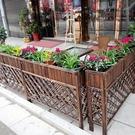 隔斷花架 花槽碳化餐廳屏風網格實木柵欄圍欄花盆架戶外防腐木花箱 快速出貨