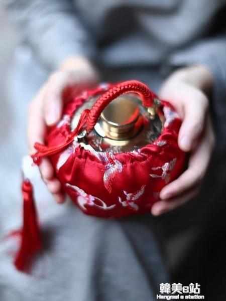 湯婆子純銅加厚暖手寶宮廷復古注水燙婆子老式銅壺暖腳寶熱水袋 韓美e站