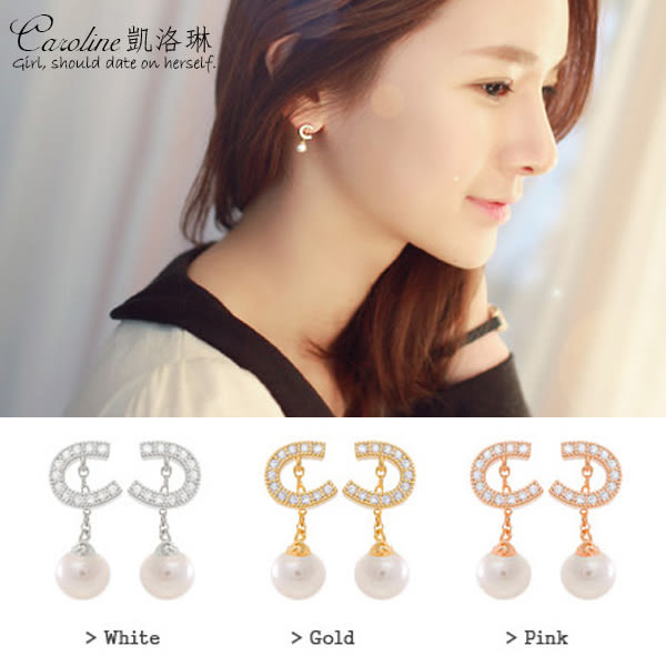 《Caroline》★韓國官網熱賣時尚風格流行耳環68826