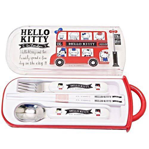 HELLO KITTY日本製抽屜式餐具組(英倫家族)★funbox★SKATER_S44597