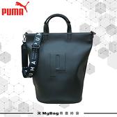 PUMA 手提包 Sense 托特包 皮革 水桶包 肩背包 休閒側背包 078170 得意時袋