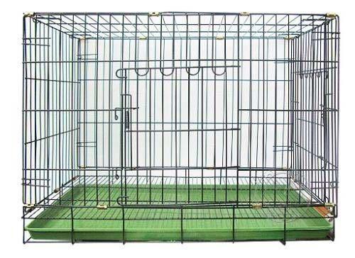 【zoo寵物商城】台灣製造》 3尺雙門靜電黑體折疊式居家狗籠