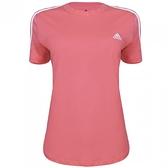 Adidas LOUNGEWEAR ESSENTIALS 女款粉色運動短袖上衣-NO.GL0787