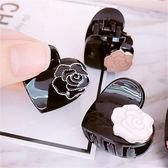 日韓花系列玫瑰髮夾抓夾髮飾仿愛心造型通販屋