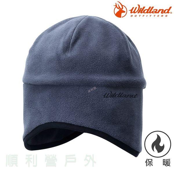 荒野WILDLAND 中性Pile保暖遮耳帽 W2001 鐵灰色 刷毛 保暖帽 刷毛帽 OUTDOOR NICE