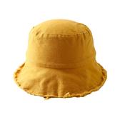兒童帽 毛邊布藝兒童女童帽子