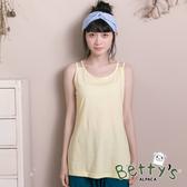 betty's貝蒂思 百搭素色雙肩帶背心(淺黃)