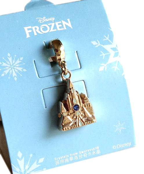 【卡漫城】 冰雪奇緣 串飾 城堡 ㊣版 手環 手鍊 項鍊 掛飾 施華洛世奇水晶 鋅合金 墜飾 禮物 Frozen