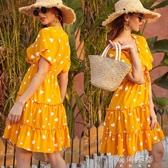 爆款時尚2020雪紡碎花洋裝夏法式甜美復古休閒森系
