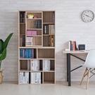 木質 置物櫃 書櫃 收納櫃 置物架 屏風 組合櫃【N0112】浩克大容量八格書櫃+收納書櫃 完美主義 AC