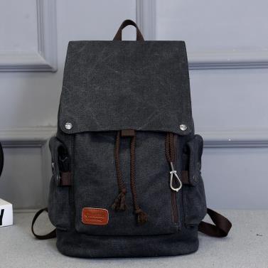 後背包韓版男士背包休閒後背包男時尚潮流帆布男包旅行包電腦包春季新品