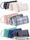 文具盒 韓國大容量帆布筆袋簡約女孩可愛多功能網紅少女文具盒筆盒高中生鉛筆袋日系 交換禮物