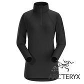 【Arc'teryx 始祖鳥】女 Rho LT 內層套頭排汗保暖衫 (薄刷毛 / Polygiene®抑菌抗臭 / 合身)『黑』L063972
