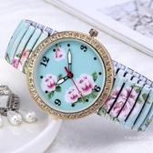 女士手錶女表防水學生時尚潮流簡約鋼帶古典中國風中年老人女【快速出貨】