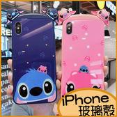 史迪奇iPhone11Pro max手機殼 iPhoneXR保護殼 iPhone8 Plus手機套 i7Plus保護套 iPhone6s Plus玻璃殼