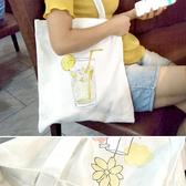 帆布袋 手提包 帆布包 手提袋 環保購物袋--單肩/拉鏈【DE4600】 icoca  08/24