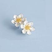 耳環 925純銀-清新花朵生日情人節禮物女飾品73gk84【時尚巴黎】