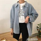 秋季女裝韓版復古學院風中長款針織衫寬鬆長袖毛衣開衫上衣外套潮 樂芙美鞋