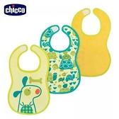 chicco-可愛動物防水圍兜(帥氣男孩)3入