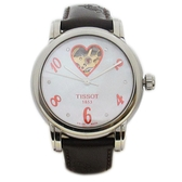 TISSOT 天梭 棕/紅色1853 Lady Heart 縷空機械腕錶【二手名牌 BRAND OFF】