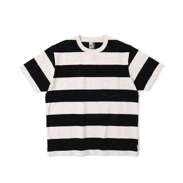 CHUMS Heavy Weight Border Pocket T-Shirt 短袖T恤 灰/黑 CH011666G010【GO WILD】