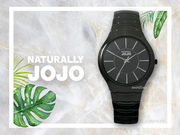 【時間道】NATURALLY JOJO 中性簡約流線型腕錶 / 黑面銀刻黑陶(JO96910-88F)免運費
